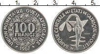 Продать Монеты КФА 100 франков 1967 Медно-никель