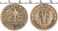 Продать Монеты КФА 25 франков 1970 Медно-никель