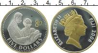 Изображение Монеты Фиджи 5 долларов 2006 Серебро Proof-