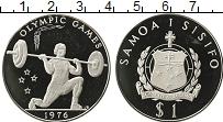 Изображение Монеты Самоа 1 тала 1976 Серебро Proof