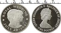 Изображение Монеты Великобритания Остров Джерси 2 фунта 1981 Серебро Proof-