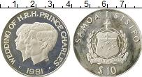 Изображение Монеты Самоа 10 долларов 1981 Серебро Proof-