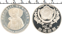 Изображение Монеты Корея 500 вон 1970 Серебро Proof