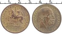 Изображение Монеты Италия 2 лиры 1928 Позолота XF Бенито Муссолини