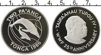 Изображение Монеты Тонга 2 панга 1986 Серебро Proof Киты