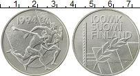 Изображение Монеты Финляндия 100 марок 1994 Серебро UNC