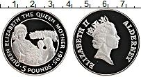 Изображение Монеты Олдерни 5 фунтов 1995 Серебро Proof- Елизавета II. Короле