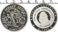Изображение Монеты Конго 10 франков 1999 Серебро Proof-