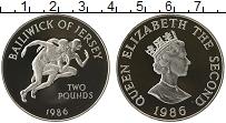 Изображение Монеты Остров Джерси 2 фунта 1986 Серебро Proof-