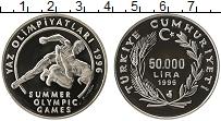 Изображение Монеты Турция 50000 лир 1995 Серебро Proof- Летние Олимпийские и