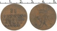 Изображение Монеты Ганновер 2 пфеннига 1800 Медь VF
