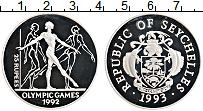Изображение Монеты Сейшелы 25 рупий 1993 Серебро Proof- Олимпиада-1992 в Бар