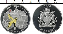 Изображение Монеты Африка Малави 5 квач 2006 Серебро Proof