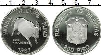 Изображение Монеты Филиппины 200 песо 1987 Серебро Proof-
