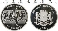 Изображение Монеты Сомали 100 шиллингов 2001 Серебро Proof- Олимпийские игры