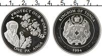 Изображение Монеты Австралия и Океания Тонга 1 паанга 1994 Серебро Proof-