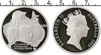 Изображение Монеты Австралия 5 долларов 1993 Серебро Proof- Елизавета II. Лавсон