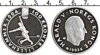 Изображение Монеты Норвегия 100 крон 1993 Серебро Proof- Гаральд V. Лиллехамм