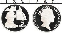 Изображение Монеты Австралия 5 долларов 1994 Серебро Proof- Первооткрыватели нов