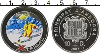Изображение Монеты Андорра 10 динерс 2007 Серебро Proof- Экстрим.