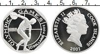 Изображение Монеты Острова Кука 10 долларов 2001 Серебро  Олимпийские игры 200