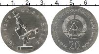 Изображение Монеты ГДР 20 марок 1988 Серебро UNC