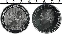 Изображение Монеты Испания 10 евро 2002 Серебро Proof