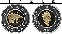 Изображение Монеты Канада 2 доллара 2003 Биметалл Proof-
