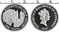 Изображение Монеты Гернси 1 фунт 1997 Серебро Proof-