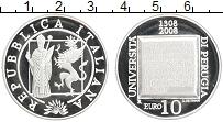 Изображение Монеты Италия 10 евро 2008 Серебро Proof 700-летие университе