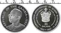 Изображение Монеты Гамбия 20 даласи 1993 Серебро Proof- 40 лет коронации Ели