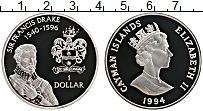 Изображение Монеты Великобритания Каймановы острова 1 доллар 1994 Серебро Proof-