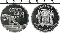 Изображение Монеты Ямайка 10 долларов 1996 Серебро Proof Олимпиада 1996 в Атл