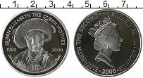 Изображение Монеты Виргинские острова 10 долларов 2000 Серебро Proof Королева Елизавета -