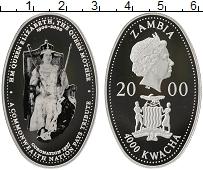 Изображение Монеты Африка Замбия 4000 квач 2000 Серебро Proof
