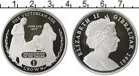 Изображение Монеты Гибралтар 1 крона 2001 Серебро Proof- Викторианская эпоха
