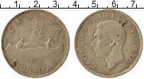 Изображение Монеты Северная Америка Канада 1 доллар 1952 Серебро XF