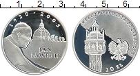 Изображение Монеты Польша 10 злотых 2005 Серебро Proof- Иоанн Павел II