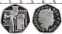 Изображение Монеты Великобритания 50 пенсов 2003 Серебро Proof- Елизавета II.