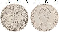 Изображение Монеты Индия 1 рупия 1880 Серебро XF Виктория