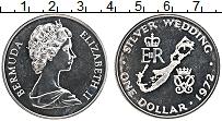 Изображение Монеты Бермудские острова 1 доллар 1972 Серебро XF