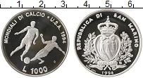 Изображение Монеты Европа Сан-Марино 1000 лир 1994 Серебро Proof-