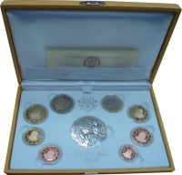 Изображение Подарочные монеты Ватикан 80-летие основания Ватикана 2009  Proof
