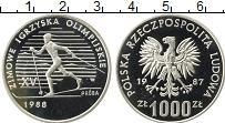 Изображение Монеты Европа Польша 1000 злотых 1987 Серебро Proof-