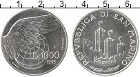 Изображение Монеты Сан-Марино 1000 лир 1993 Серебро UNC-