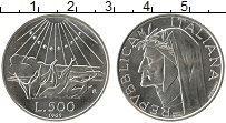 Изображение Монеты Европа Италия 500 лир 1965 Серебро UNC-