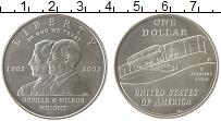 Изображение Монеты США 1 доллар 2003 Серебро UNC 100-летие первого по