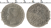 Изображение Монеты Бавария 2 марки 1904 Серебро  Реставрация. Отто