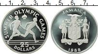 Изображение Монеты Северная Америка Ямайка 25 долларов 1988 Серебро Proof-