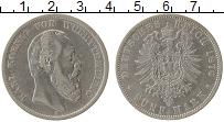 Изображение Монеты Вюртемберг 5 марок 1876 Серебро VF
